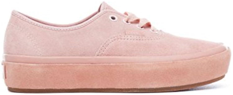 Vans Damen Evening Sand Rosa Authentic Platform Sneakers