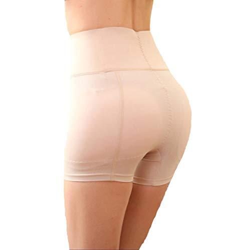 Hip Enhancer Damen Butt Lifter Nylon Hüften/Abdomen Hohe Taille Dreieck Höschen Gepolsterte Atmungs Gefälschte Ass Frauen Control Knickers (M-4XL),Skintone,2XL