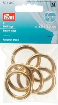 Prym creux 26/35 mm-Lot de 6 anneaux Doré