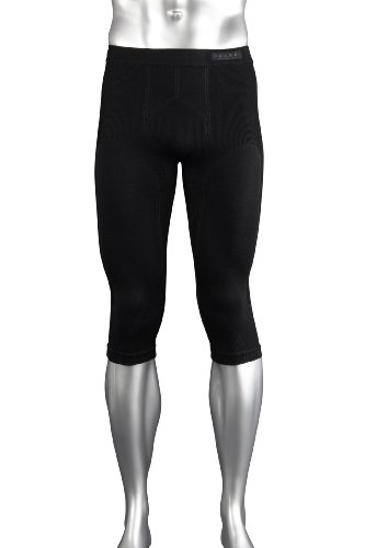 FALKE Sport-Unterwäsche Skiing Wool 3/4 Tights, black, XXL, 33595
