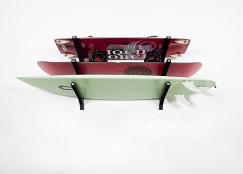 Joli présentoir-Support mural Triple pour les planches de surf et plus