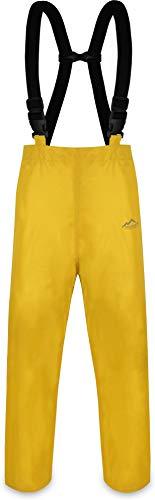 normani Erwachsenen Regenhose ungefüttert mit Hostenträgern, Wind- und wasserdicht sowie atmungsaktiv Farbe Gelb Größe L