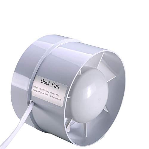 erschöpfter gefächelter, Inline-Kanal-Ventilator-Decken-Ventilations-Rohr-Ventilator-Abzugsventilator für Badezimmer-Versorgungsmaterialien 220V 4 Zoll