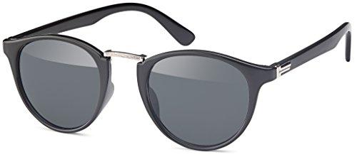 Feinzwirn Vintage Sonnenbrille in runder Form (Smoke)