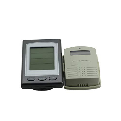 Funkwetterstation Innen/Außen Vorhersage Temperatur und Feuchtigkeitsmessgerät Alarm Thermometer Hygrometer Regard L -