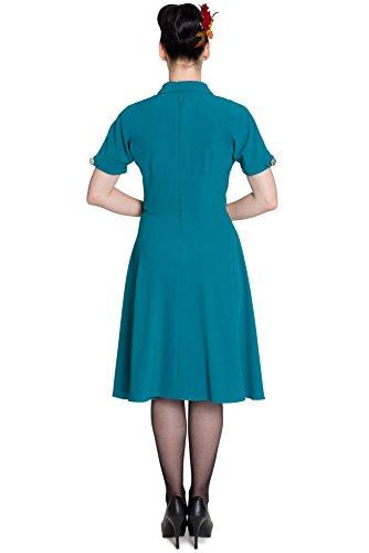 Ligne bunny robe robe jOCELYN 4395 Turquoise - Bleu sarcelle