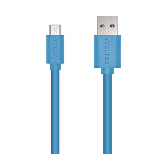 iVoltaa Premium 1 Meter Micro USB Cable High Speed USB 2.0 A Male to Micro B Sync & Charging 5 Core Cable for Samsung, Nokia ,HTC, Blackberry, Tablet PC, and Most Android Tablets, Android Phones, and Windows Phones, (1 Meter, Blue)  available at amazon for Rs.199