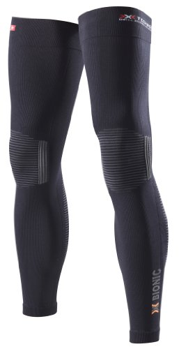 X-Bionic Erwachsene Funktionsbekleidung Biking OW Leg Warmer DX SX No Seam Beinlinge, Black/Anthracite, S/M