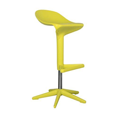 Peaceip Neue Design Swivel ABS Kunststoff Bar Küche Frühstück Hocker Stuhl, 76X35X55cm (Farbe : Lemon yellow, größe : 57-76cm) - Neue Bar Hocker Stuhl