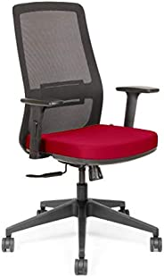 SOS Spacewood LiteOffice Onyx LX Mesh Back Nylon Base Ergonomic Office Chair (Red)