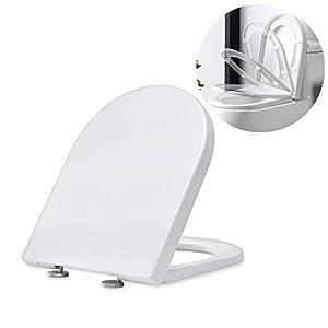 Homelody Tapa y AsientoTapadera WC Universal en Forma de U Cierre Suave Descenso Silencioso Tapa Robusto Sencillo de…