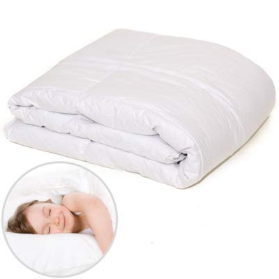Kinderdecke 100x135 Bettdecke kinder Kinderbettdecke - baby Bettdecke aus Daunen und Federn daunendecke 100 x 135 cm 400 g warm Ganzjahresdecke