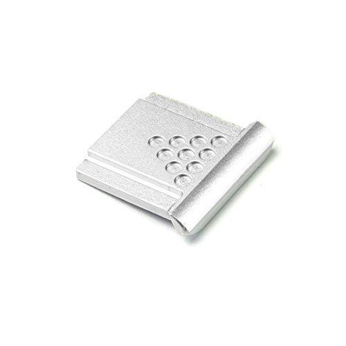DSLRKIT Metal Universal Hot Shoe Cover for Canon Nikon Pentax Fuji Camera, Silver -