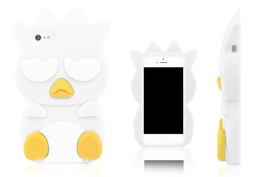 Xcessor Oiseau Bird Chicken Étui En Silicone Pour Apple iPhone SE / 5S / 5. Noir blanc