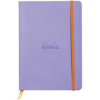 Clairefontaine Rhodiarama carnet souple 160 pages ivoire lign/é /à /élastique A5 90 g Orange