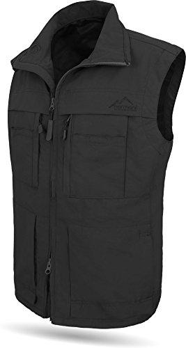 normani Outdoorweste für Herren - aus Atmungsaktivem Sonnenschutzmaterial +50°C, in S -5XL erhältlich Farbe Schwarz Größe 5XL