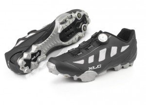 XLC Pro MTB Shoes CB M08adulto, Unisex, Pro MTB Shoes CB M08, nero/grigio, 47