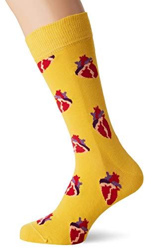Happy Socks Herren True Love Socken, Gelb (Yellow), 7/10/2018 (Herstellergröße: 41-46) (Suit Birthday Happy)