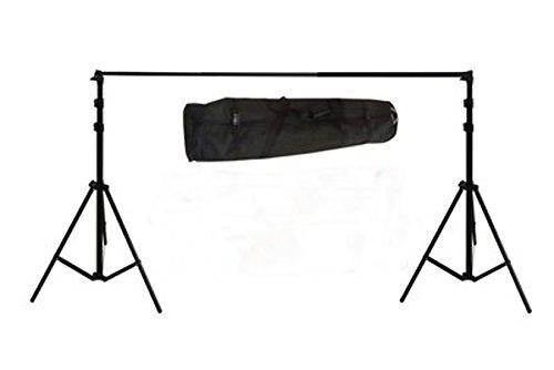 Bresser F001966 Fotostudio BR-D45 PRO-1 Hintergrundsystem 390 x 470 cm für Tücher/Papierhintergrund/Vinyl schwarz
