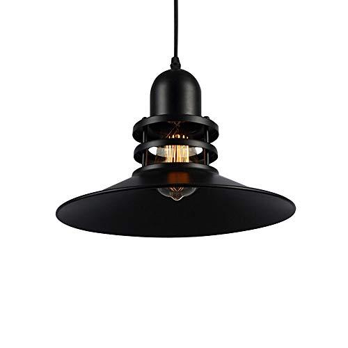 SBB Iluminación colgante 1 luces de metal negro pantalla colgante de luz...
