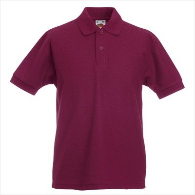 Fruit of the Loom - Kinder Poloshirt 'Piqué Polo 65/35' 152,Burgundy