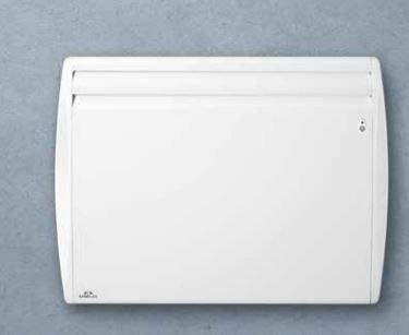 Radiateur électrique 1000W blanc fonte d'aluminium chaleur Douce Horiz 675X500mm connecté NOVEO SMART ECOCONTROL AIRELEC A692683