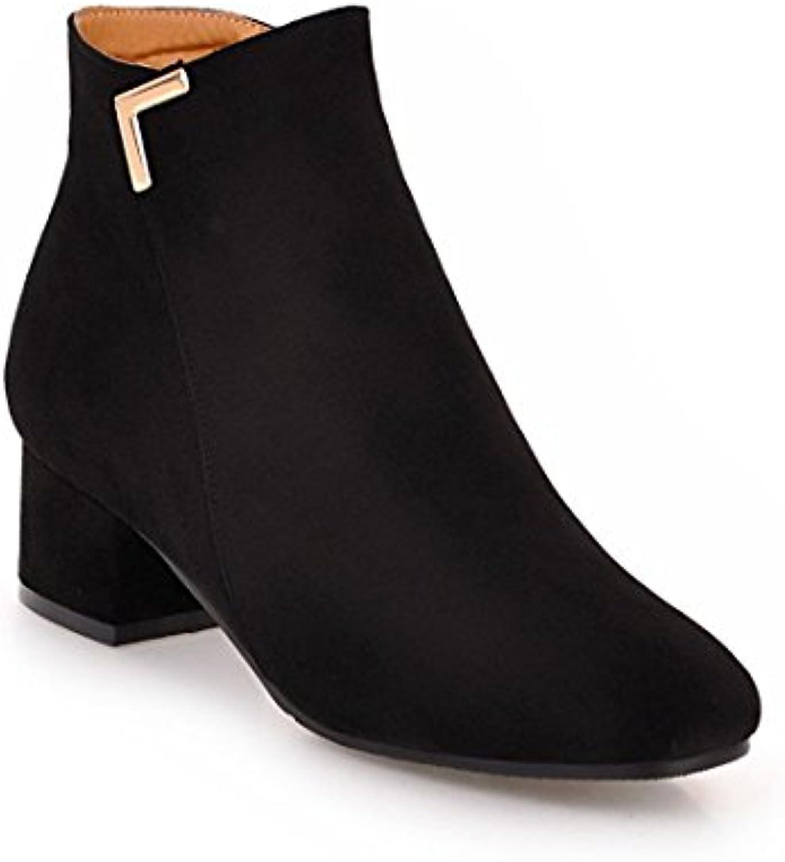 Sandalette-DEDE Sandalette-DEDE Sandalette-DEDE Stivali semplici e Comodi, Comodi e Spessi, Stivali Grandi e Stivali Bassi da Studente, Nero,...   Discount  0485c3