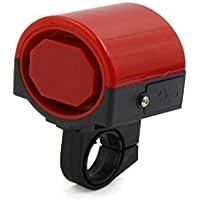 sourcing map 20mm Manillar Bocina Electrónica Plástico Rojo Timbre Impermeable para Bicicleta
