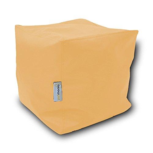 Puff Cubo Polipiel XL 50x50cm (Amarillo Pastel)