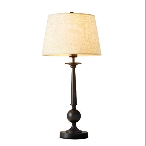 American Iron Nero lampada da tavolo Soggiorno luminoso caldo letto