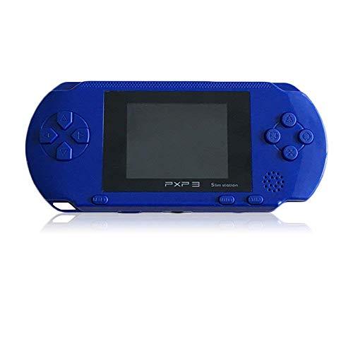 Dan Datenübertragungsrate neue 16Bit Handheld Game Konsole Videospiel Notebook 200+ Spiele Retro Megadrive PXP3(blau) (Handheld-spiel-konsole)