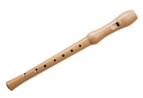 Classic Cantabile SF-110bA C-Sopran Blockflöte Barock (2-teilige Flöte, Ahorn, barocke Griffweise, inkl. Wischerstab, Korkfett und Etui)