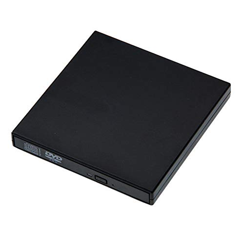 Externes DVD-ROM-Laufwerk USB 2.0 CD/DVD-ROM CD-RW-Player Brenner Schlanker tragbarer Reader-Recorder Portatil für Laptop,Black