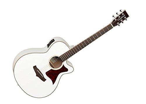 Tanglewood TW4WH Super Folk–Guitarra electroacústica, superior de cedro macizo, con ecualizador