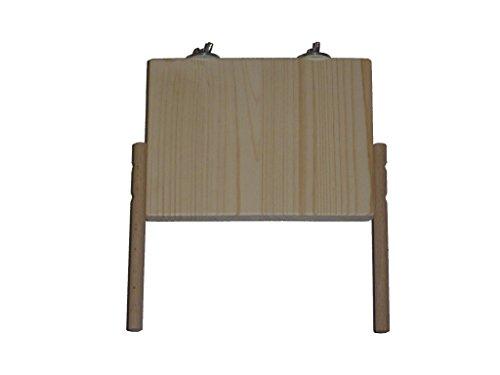 pipano Sitzbrett 20 x 15 cm mit 2 Sitzstangen 12 mm, Sitzplatz, Wellensittich S22012