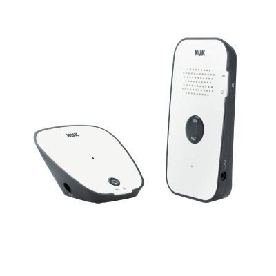 Nuk Eco Control Audio 500, Écoute-bébé numérique avec mode Eco et Full Eco Control, blanc Nuk
