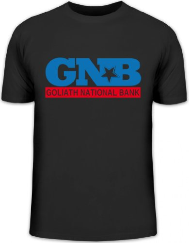 National Bank Street (Shirtstreet24, Goliath National Bank, GNB Herren T-Shirt Fun Shirt Funshirt, Größe: XL,schwarz)