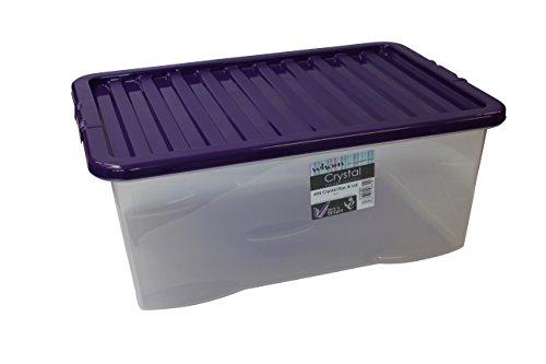 Wham 10870 Boîte de Rangement Transparent, PP, 60 x 40 x 25 cm