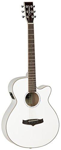 Tanglewood TSFCEWH - Guitarra acústica, acabado blanco brillo