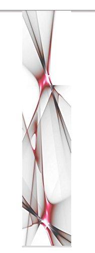 Home fashion 87188-707 - tenda a pannello franklin, tessuto decorativo, 300 x 60 cm, rosso