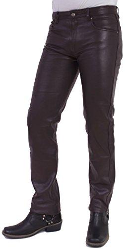 RICANO Cow Waxy, Slim Fit Herren Lederhose im 5-Pocket Stil (Jeans Optik) aus gewachstem Rind Nappa Echtleder...