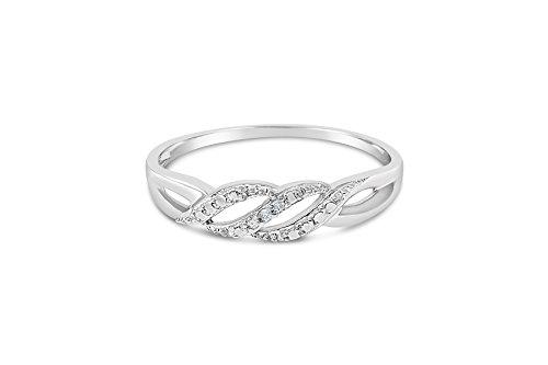 Weißgold-Ring für Frauen mit Diamanten-55 (17.5)