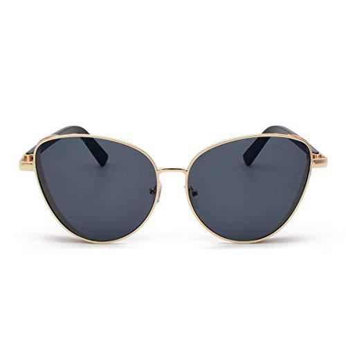 Lazzboy Polarisierte Sonnenbrille Für Frauen Mann Verspiegelte Linse Mode Brille Brillen Klassische Damen Polarisiert Modische Runde Retro Vintage Männer(Grau)
