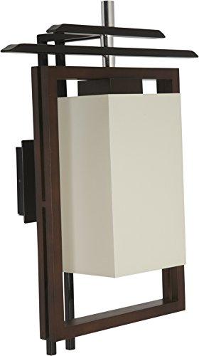 Elegante Wandleuchte in Braun Weiß Bauhausstil inkl. 1x 12W E27 LED 230V Wandlampe aus Metall Holz...