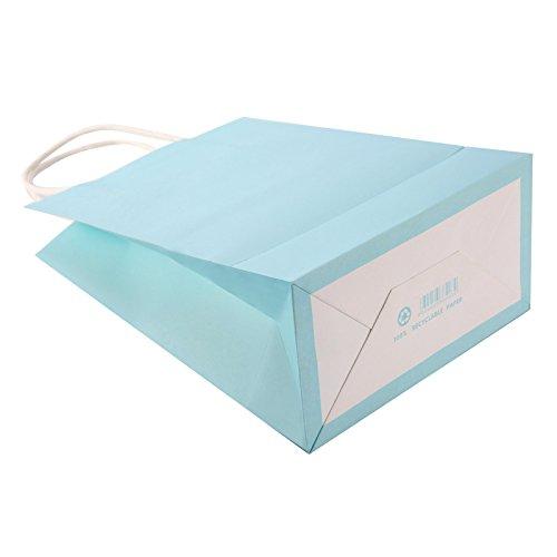 1/5/10X. Sacchetto di carta regalo Confezione 10Sacchetti di colori 15x 8x 21cm Hellblau x1