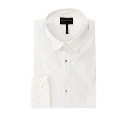 EMPORIO ARMANI 6G1C09-1N6RZ-0100 Camisas Hombres Blanco