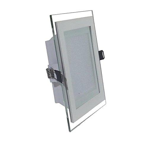 V-TAC 4741 - Luminaria de techo empotrable cuadrada led (cristal 12 W...