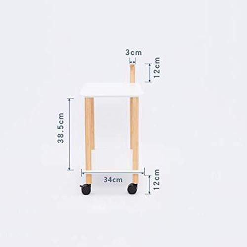 MU Haushaltsregale Regale 2-Regal Servierwagen Indoor Outdoor Holzrollen Utility Cart Heavy Duty für die Küche Kommerziell Hotel Restaurant Dining Racks,B