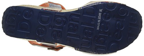 Desigual Bio7 Denim Patch, Scarpe Col Tacco con Cinturino a T Donna Blu (blue 5106)