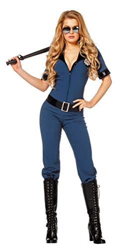 Karneval-Klamotten Polizist Kostüm Damen sexy Polizistin Overall Damen-Kostüm Größe 36
